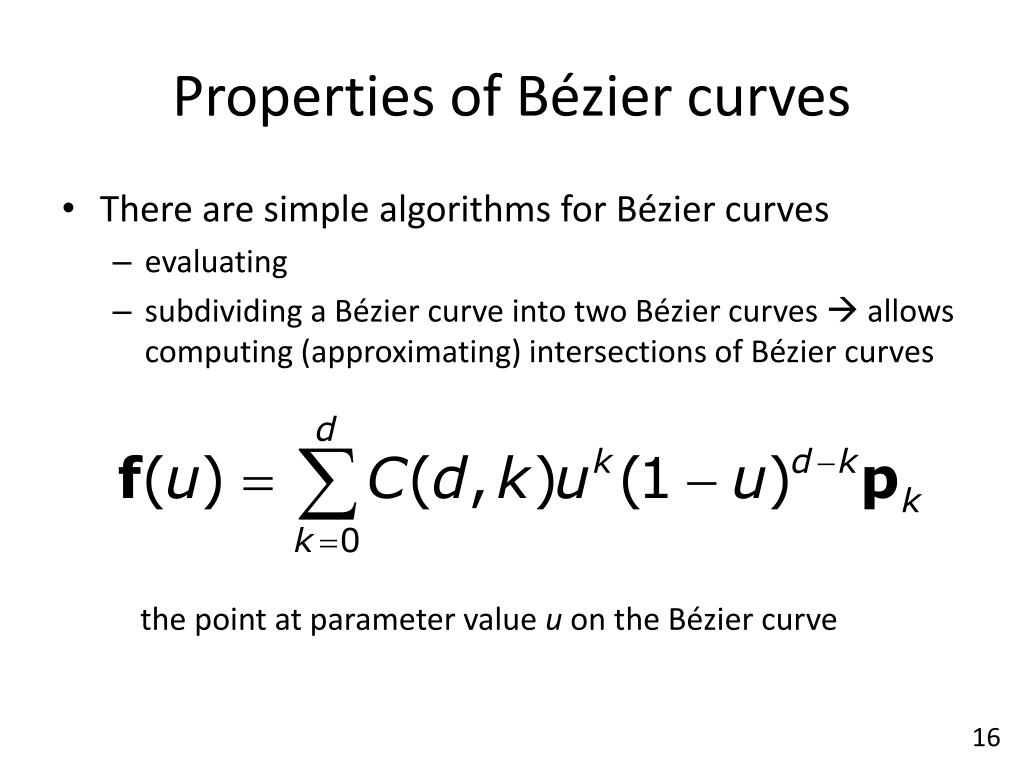 PPT - Splines III – Bézier Curves PowerPoint Presentation - ID:6880684