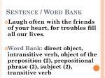 sentence word bank