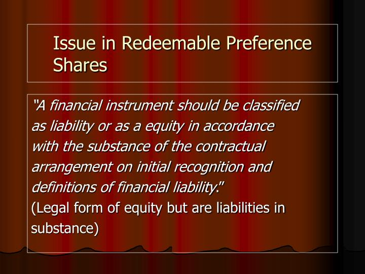 redeemable preference shares definition