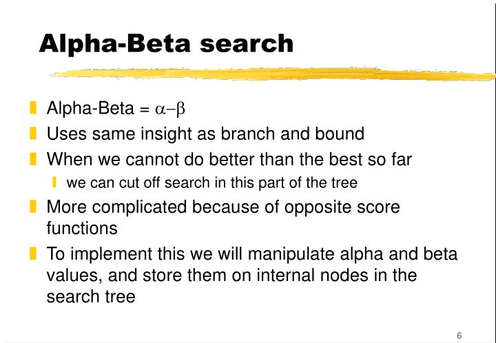 Alpha-Beta search