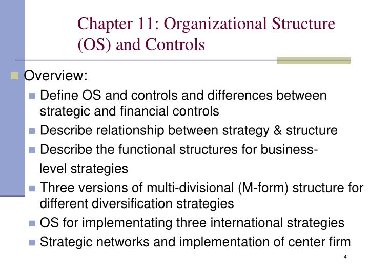 Chapter 11: Organizational Structure (OS) and Controls