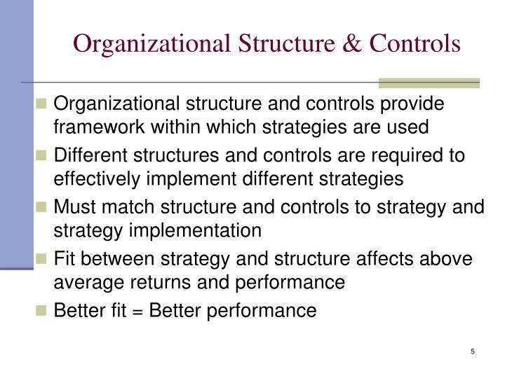 Organizational Structure & Controls