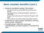 basic member benefits cont