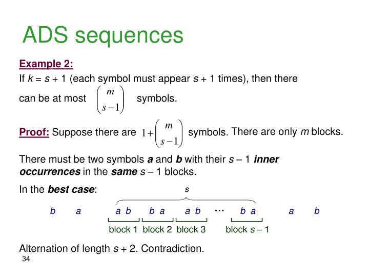 ADS sequences