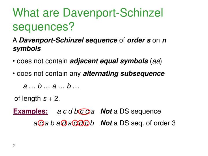What are davenport schinzel sequences