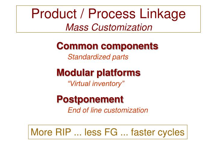 mass customization postponement component commonality In this paper, we review the commonality indices that have been developed thus  far  limitations in evaluating component commonality for mass customization.