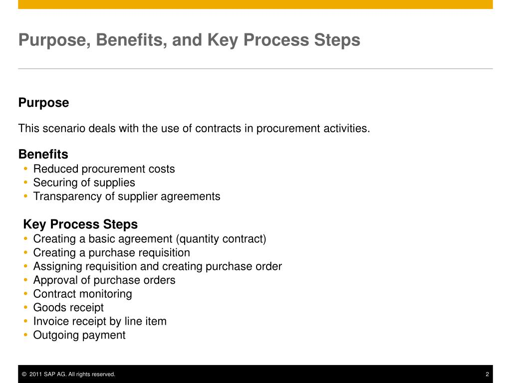 PPT - Procurement Contract PowerPoint Presentation - ID:6881262
