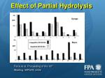effect of partial hydrolysis