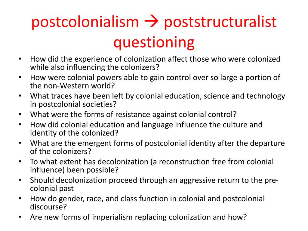 PPT - postcolonialism PowerPoint Presentation - ID:6881346