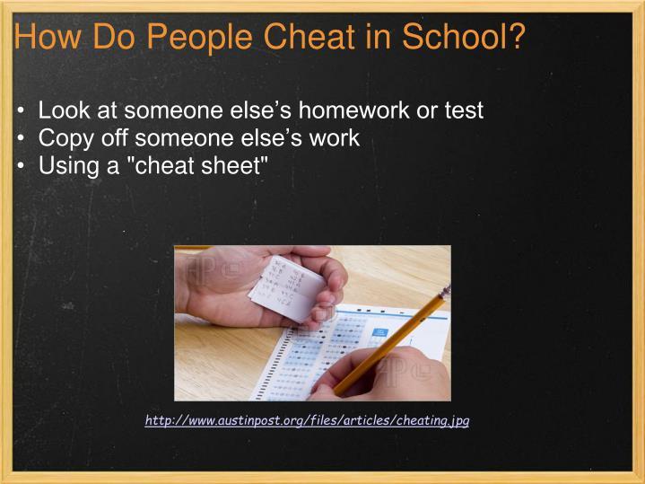 How Do People Cheat in School?