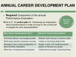 annual career development plan