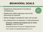 behavioral goals