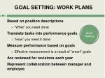 goal setting work plans
