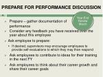 prepare for performance discussion