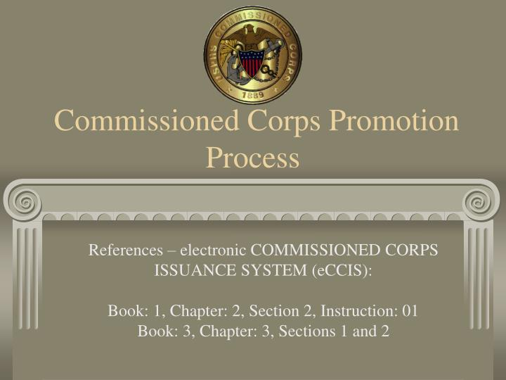 Commissioned corps promotion process