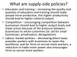 what are supply side policies