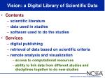 vision a digital library of scientific data