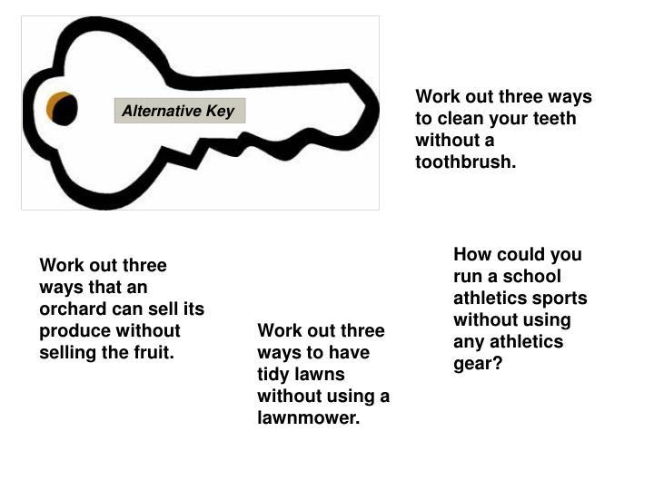 Alternative Key