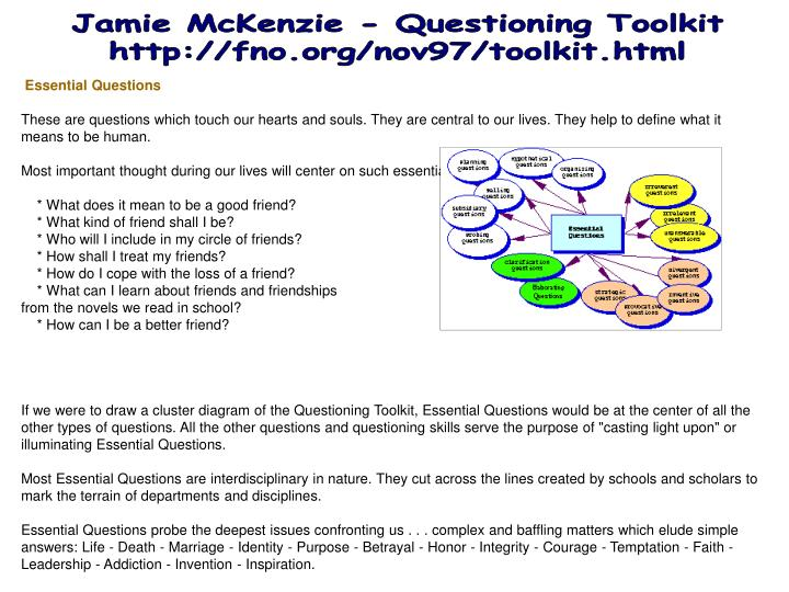 Jamie McKenzie - Questioning Toolkit