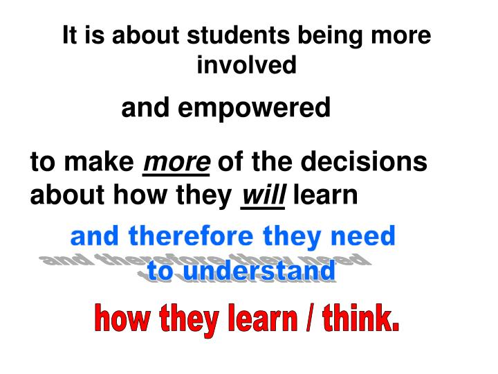 It is about students being more involved