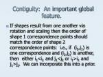 contiguity an important global feature