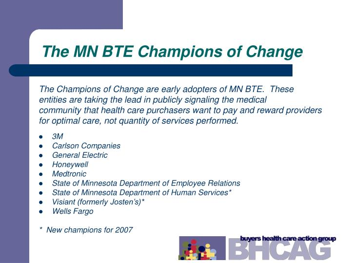 The MN BTE Champions of Change
