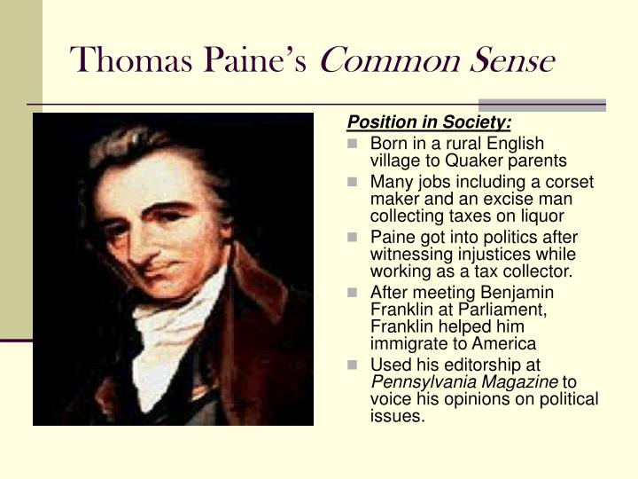 thomas paine s common sense n.