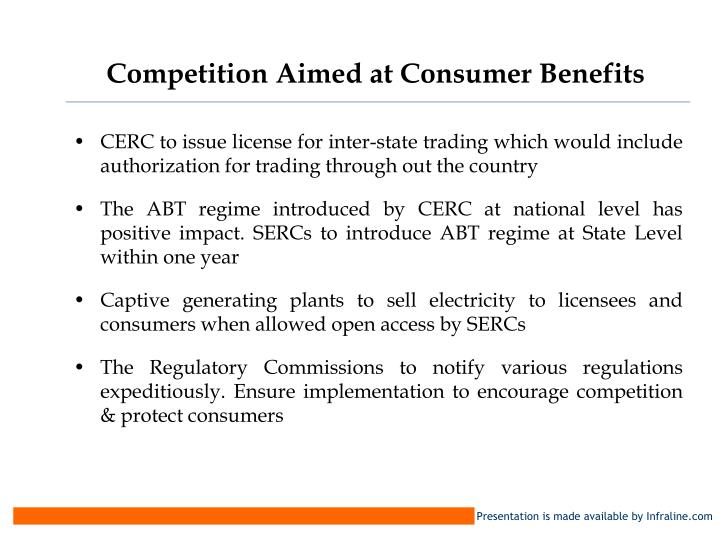 Competition Aimed at Consumer Benefits
