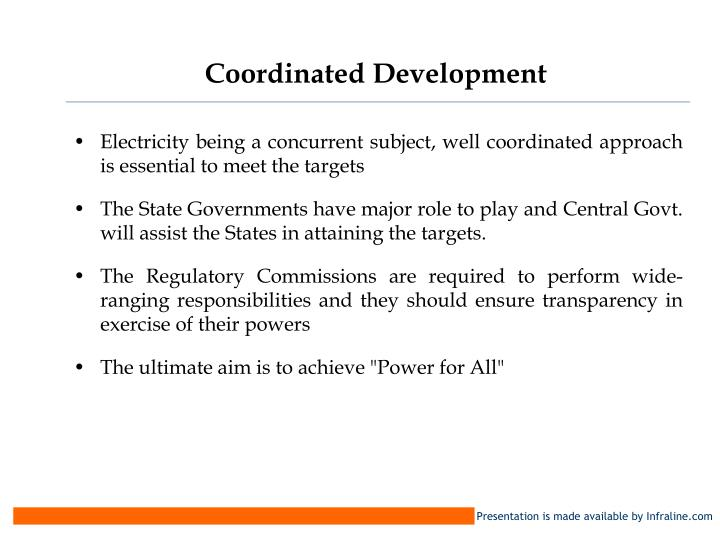 Coordinated Development