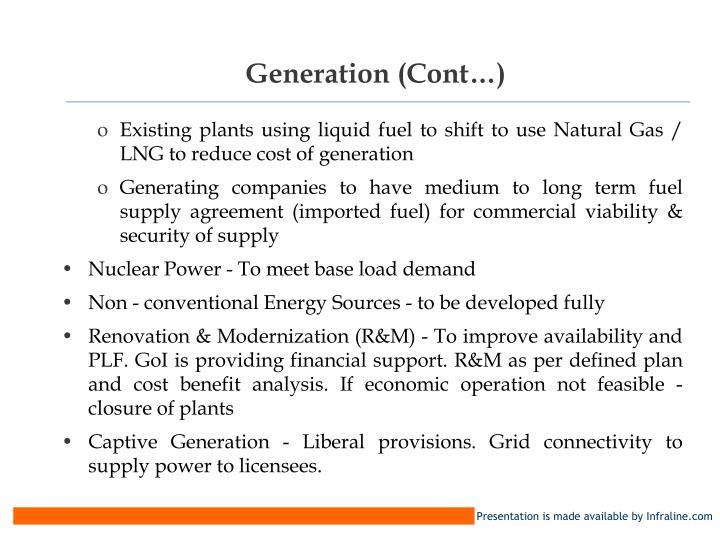 Generation (Cont…)