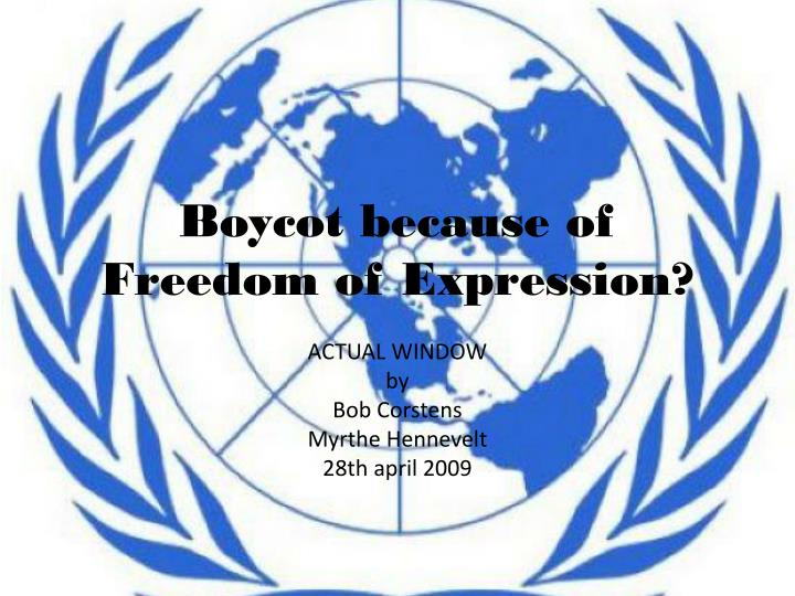 Boycot because of freedom of expression