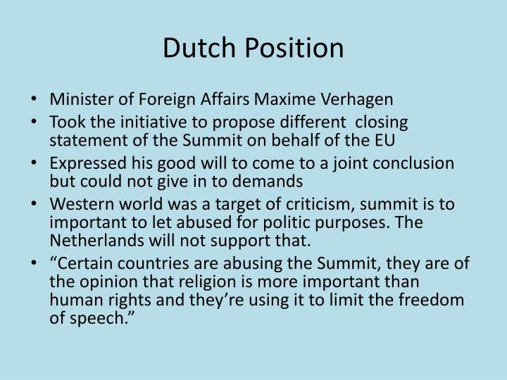 Dutch Position