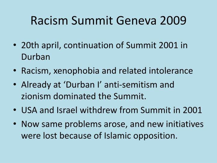 Racism summit geneva 2009