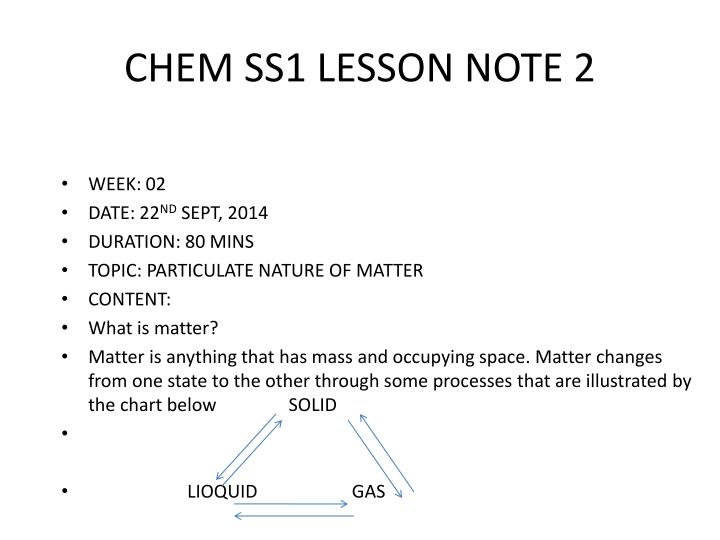 chem ss1 lesson note 2 n.