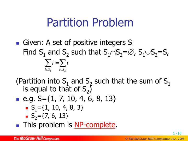 Partition Problem