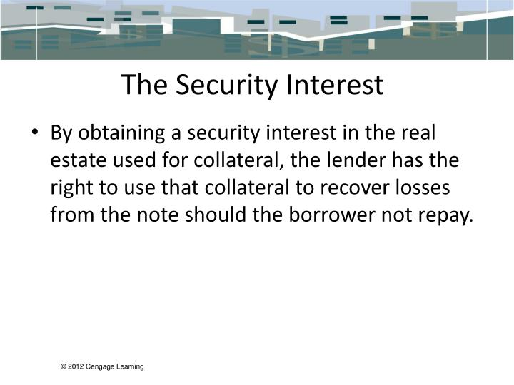 The Security Interest