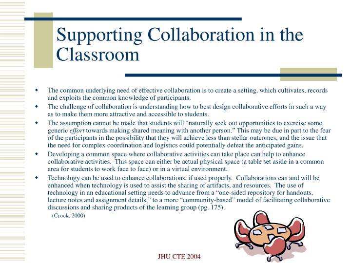 Supporting Collaboration in the Classroom
