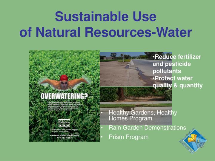 Sustainable Use