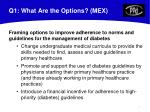 q1 what are the options mex