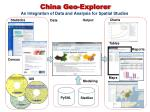 china geo explorer an integration of data and analysis for spatial studies