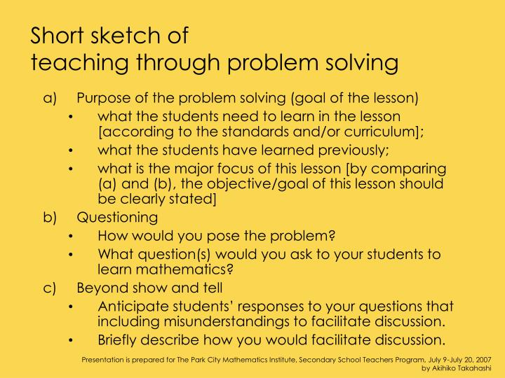 problem solving and curriculum guide version Acara and australian curriculum update (version 75) of the australian curriculum will continue to be available collaborative problem solving online assessment.