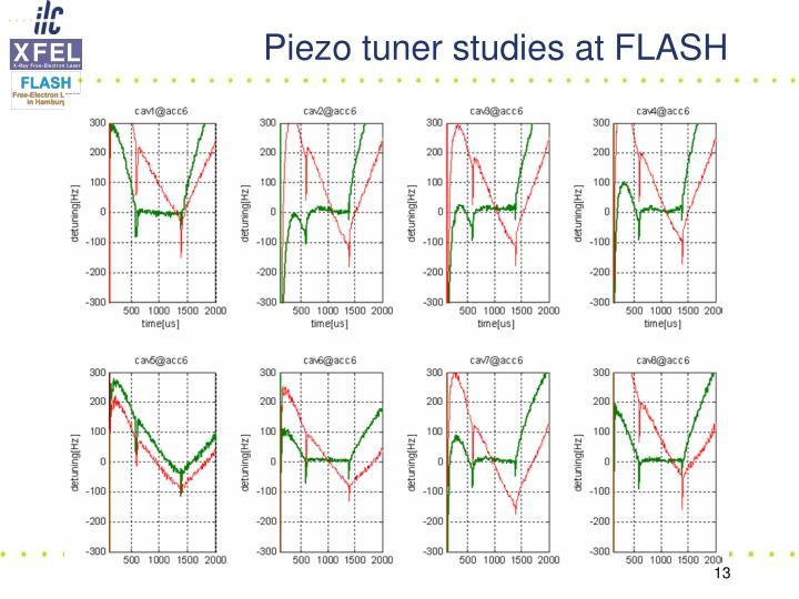 Piezo tuner studies at FLASH
