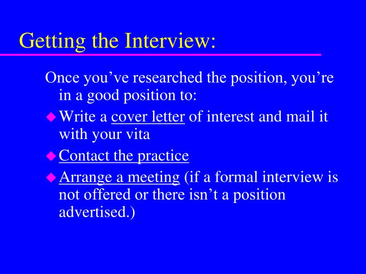 Getting the Interview: