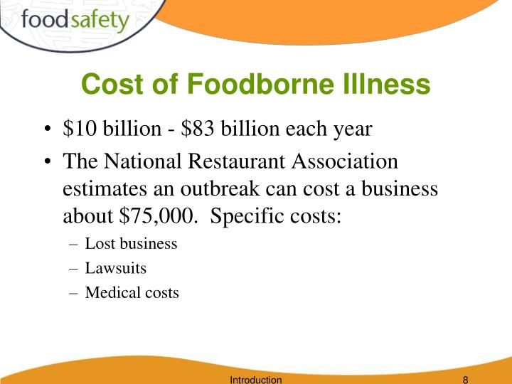Cost of Foodborne Illness