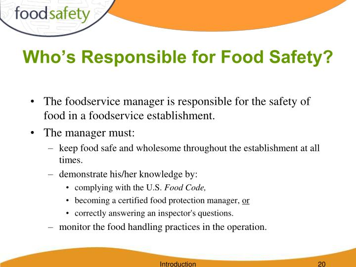 Who's Responsible for Food Safety?