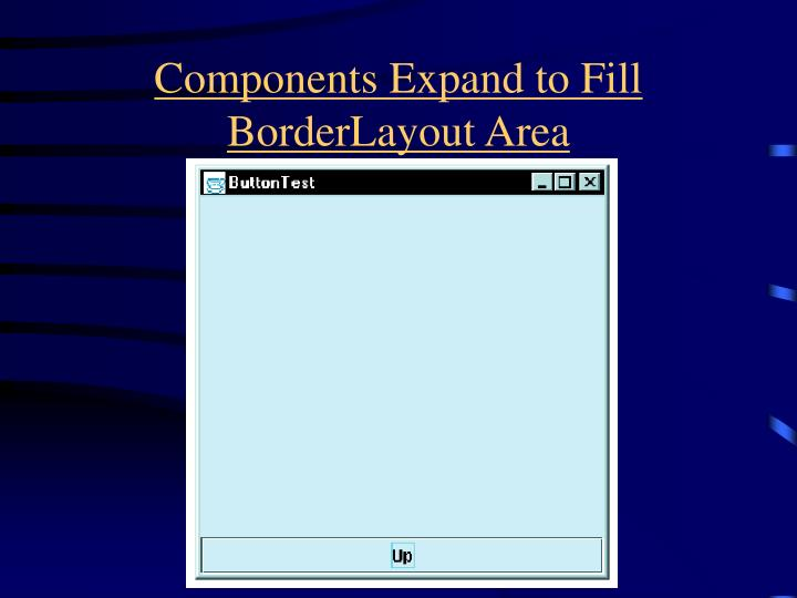 Components Expand to Fill BorderLayout Area