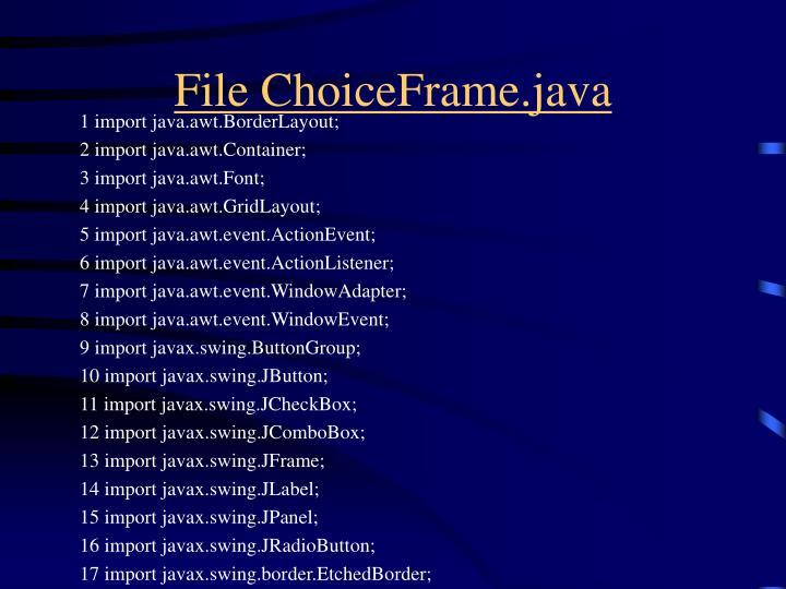 File ChoiceFrame.java