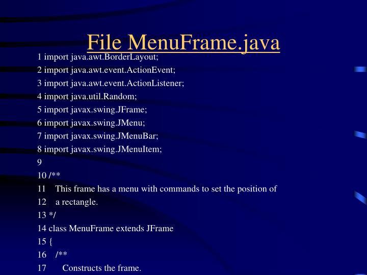 File MenuFrame.java