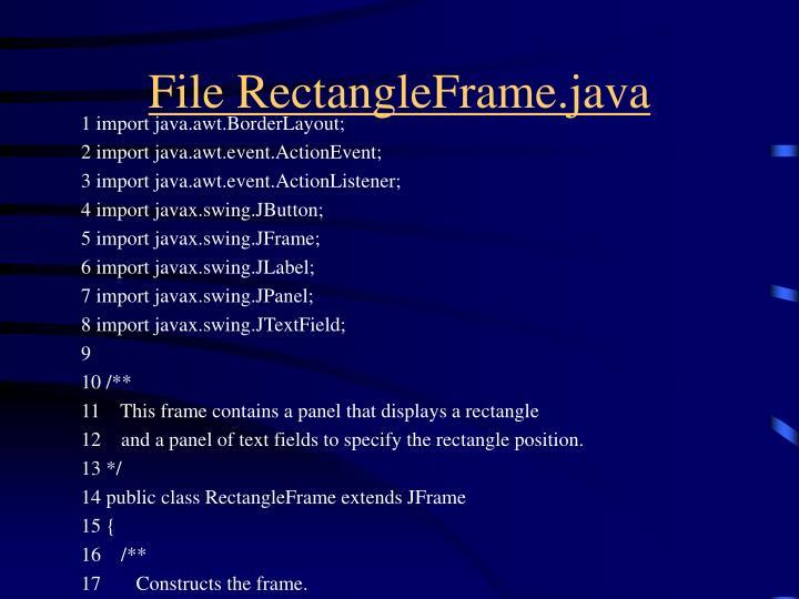 File RectangleFrame.java