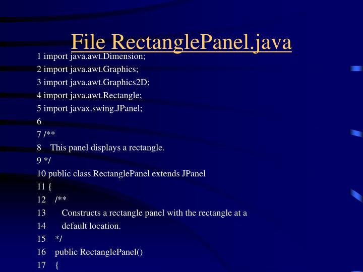 File RectanglePanel.java